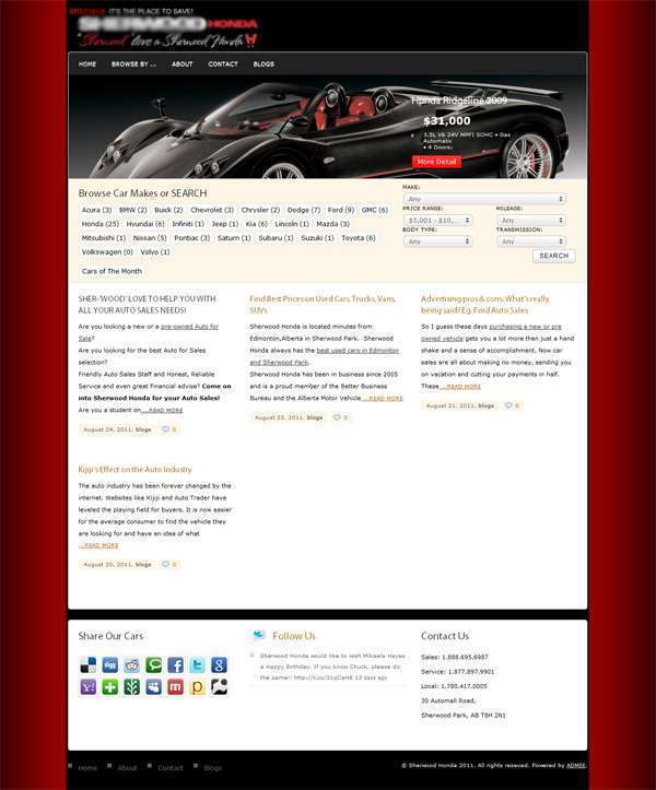 Used cars vehicle website vancouver online marketing for Motor car portfolio site inventory