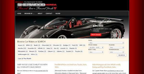 Used Cars Vehicle Website Vancouver Online Marketing Outsourcing